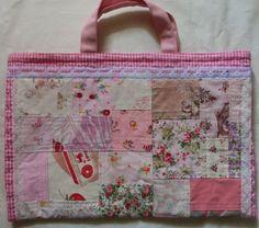 ハンドメイドマーケット minne(ミンネ)| レッスンバック(パッチワーク0459)ピンク