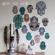 Hamsa Wall Decor hamsa wall decorourfolklife on etsy | things i want