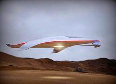 Tecnoneo: El director de diseño de Ferrari da rieda suelta a su creatividad realizando un nuevo concepto de nave espacial