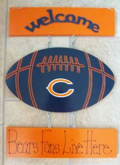 New Chicago Bears Football Welcome Sign