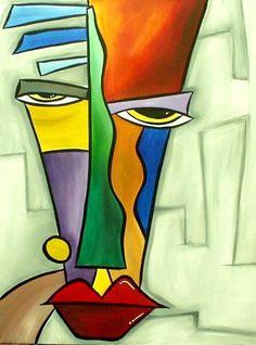 Art: Faces 26 by Artist Thomas C. Fedro