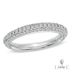 LOVE LOVE LOVE THIS!!!!!!!!!!          Vera Wang LOVE Collection 0.45 CT. T.W. Diamond Three Row Anniversary Band in 14K White Gold  - Peoples Jewellers