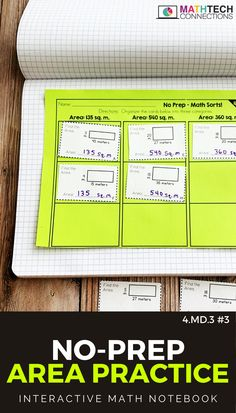 Use these cut and paste math worksheets to review measuring area 4th grade. These quick math activities can be used as math warm ups or math exit tickets.  #mathsorts #mathgames #mathcenters #mathworkshop #guidedmath #mathwarmups #mathreview #mathworksheets #mathpractice #math #3rdgrade #4thgrade #4thgrademath #interactivenotebook  #mathnotebook Math Worksheets, Math Activities, Anecdotal Notes, Fifth Grade Math, Math Vocabulary, 4th Grade Classroom, Exit Tickets, Math Practices, Math Notebooks
