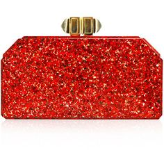 Judith Leiber Couture Faceted Rectangle Clutch Bag