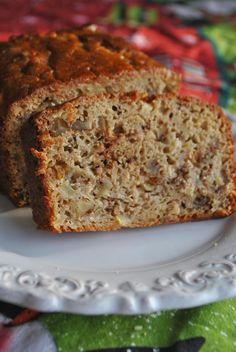 Apple Loaf Bread (low fat)  Lori's Lipsmacking Goodness
