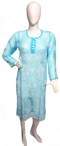 Silk Thread Work Georgette Chikan Kurti List price: Rs2195   Rs1099 You save: Rs1096 (50%)  Specifications GENERAL DETAILS PatternSelf Design Ideal ForWomen's OccasionCasual