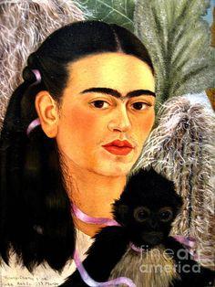 Self Portrait By Frida Kahlo