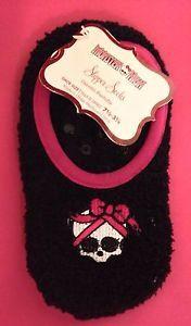 Monster High Girls Slipper Socks New Fits Girls Size 7 1 2 3 1 2 Slippers | eBay