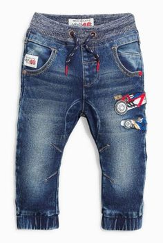Buy Mid Blue Car Pull-On Jeans (3mths-6yrs) online today at Next: Hungary