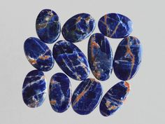 11 Pcs Sodalite Stone,Handmade Cabochon Jewelry Making Gemstone,Smooth Polish Gemstone,Rare Sodalite Gemstone#9287 by dhorgems on Etsy