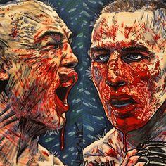 BLOODY FACES of Robbie Lawler & Rory MacDonald at #UFC189