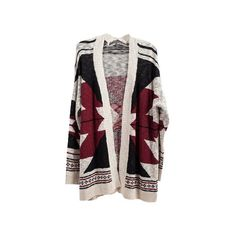 Autumn Calling Cardigan (4665 RSD) ❤ liked on Polyvore featuring tops, cardigans, outerwear, jackets, aztec print cardigan, layered tops, layering cardigans, aztec top and aztec print tops