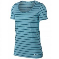 Nike Dry Dri-fit Training Top Womens Shirt Blue Stripes Size Small - for sale online Tennis Wear, Training Tops, Athletic Wear, Blue Stripes, Stylish Outfits, Nike Women, Shirt Dress, My Style, Mens Tops