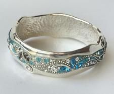 Sterling silver wide bangle bracelet with multicolor and multi shapes... Lot 117