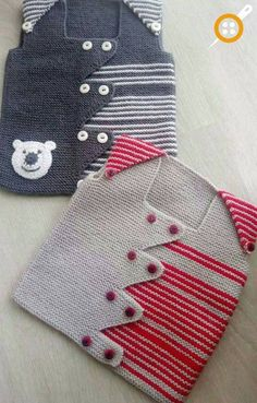 Baby Vest Decoration Techniques – Knit Vest Decorations for Babies – Kadir Sahin – Join in the world of pin Baby Knitting Patterns, Knitting Designs, Baby Patterns, Knitting Socks, Hand Knitting, Crochet For Kids, Knit Crochet, Crochet Jacket Pattern, Diy Crafts Knitting