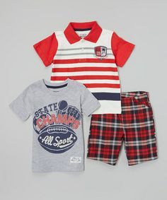 Love this Gray 'Skate Champs' Tee Set - Infant & Toddler on #zulily! #zulilyfinds