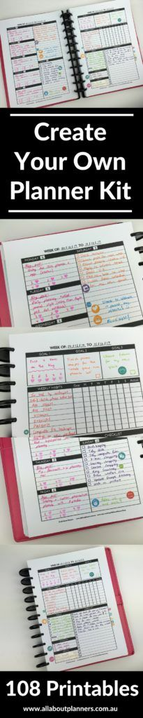 create your own planner review custom printable diy download custom color coding planner challenge diy tips ideas inspiration