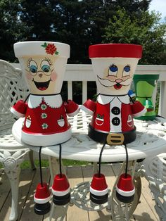 Christmas Art For Kids, Christmas Arts And Crafts, Christmas Clay, Diy Christmas Gifts, Christmas Projects, Handmade Christmas, Holiday Crafts, Clay Flower Pots, Flower Pot Crafts