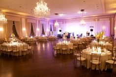 Cream and Gold Ballroom Reception Decor | photography by http://www.artisanevents.com/