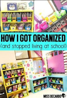 Do you feel like you are ALWAYS staying late after school to work on lesson planning and prep work? Learn how to organize your week and streamline your lesson planning routine so that you can go home at a normal time! Classroom Hacks, Classroom Organisation, Teacher Organization, Teacher Tools, Future Classroom, Teacher Resources, Organized Teacher, Organizing, Classroom Storage Ideas