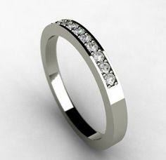 Womens Titanium Wedding Band Eternity Band Pinterest Weddings