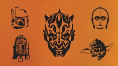 Star Wars Pumpkin-Stencils - or use them with heat transfer materials and a heat press to create fun apparel!