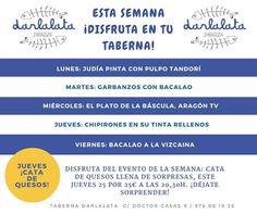 GASTRONOMÍA EN ZARAGOZA: Semana Gastronómica en Taberna Darlalata