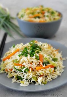 Simple Vegetable Fired Rice This simple vegetable fired rice is a quick and simple recipe that is inspired by both Chinese and Indian cuisine. The perfectly cooked rice gives a nice texture to the dish while the vegetables add some vibrant colors, delicious flavors and a solid nutrient punch to it. This flavorful fired rice tastes delicious by itself or paired with any Chinese side dish. #Rice
