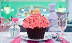 "Birthday Cupcake at Drapers at ""The Greenbrier Resort"""