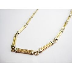 Double tube necklace 14k gold