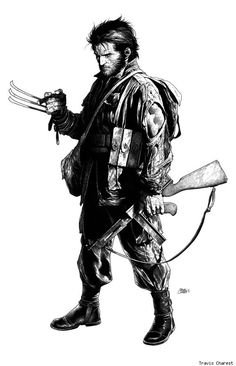 WWII-era Wolverine, pretty awesome. but his claws weren't Adamantium yet. yes im a nerd.