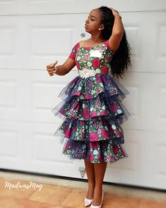 Check out This Lovely Classical Ankara Short Gown .Check out This Lovely Classical Ankara Short Gown Ankara Styles For Kids, African Dresses For Kids, Ankara Short Gown Styles, African Wear Dresses, Short Gowns, Latest African Fashion Dresses, African Print Fashion, African Attire, Ankara Fashion