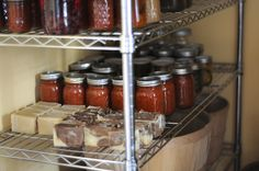 Oh to dream...shelves full of homemade soap, canned food from our garden, and bushel baskets full of apples, potatoes and onions...Yes, it will be mine!
