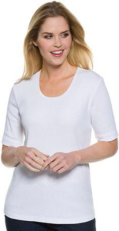 Guter Artikel.  Unterhemd mit Kurzarm. Ausschnitt: Runder Hals-Ausschnitt. Elastischer, gerippter Jersey aus hochwertigem Baumwoll-Mix. Passform: Femininer Schnitt, tailliert. Länge: größenangepasst ca 62-73 cm. Ein Basic Shirt für vielfältige Anlässe! Das eingearbeitet Satingarn im Material gibt der Optik einen leichten Glanz und die schmückende Satinborte am Halsausschnitt verleiht dem Gesamteindruck zusätzlich einen Hauch von Eleganz. Durch den elastischen Elastananteil liegt das Shirt… Womens Fashion Casual Summer, Winter Outfits Women, Fall Fashion Outfits, Women's Fashion Dresses, Casual Outfits, Pretty Outfits, Beautiful Outfits, Basic Shirts, Dress Clothes For Women