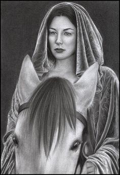 Liv Tyler as Arwen by D17rulez {Daisy van den Berg of the Netherlands} on deviantART ~ LOTR traditional pencil art