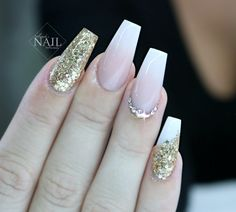 babyboomer ombre nails wedding nails bride
