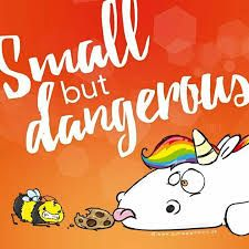 Small but dangerous - awayspin Unicorn Names, Unicorn Quotes, Rainbow Star, Rainbow Unicorn, Majestic Unicorn, Unicorn Drawing, Stupid Quotes, Unicorns And Mermaids, Fantasy World