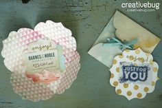 DIY Gift Card Holder and Envelope - Creativebug Video Tutorial - Lia Griffith