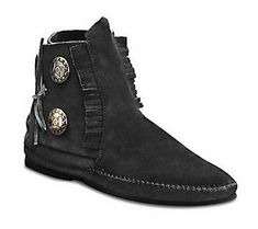 Minnetonka Suede Leather Fringed Ankle Boots