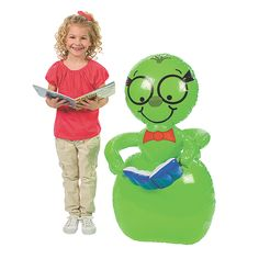 Inflatable Giant Bookworm - Oriental Trading - $15.99