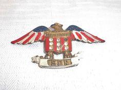 World War I Son In Service Brooch Or Pin by MyVintageHatShop