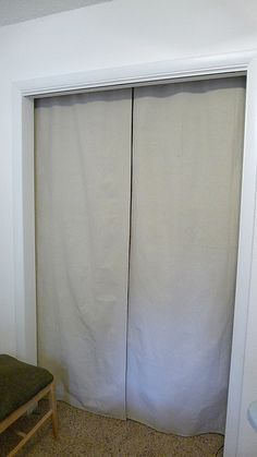 Closet Curtains Inside Closet, Above Door Frame
