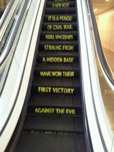 Best escalator ever (Star Wars)