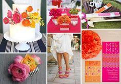 Pink and orange wedding inspiration