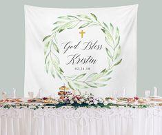 Baptism Backdrop, Baby Boy Baptism Banner, Baptism Photo ...