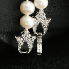 diamond clasp for pearl necklace - Google Search