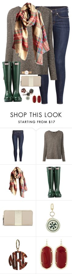 """for all of the things my hands have held the best by far is you."" by kaley-ii ❤ liked on Polyvore featuring мода, H&M, ATM by Anthony Thomas Melillo, Wet Seal, Hunter, Kate Spade, Forum, Tory Burch, Moon and Lola и Kendra Scott"