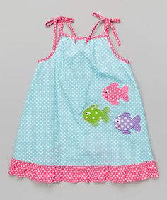 Turquoise Circles Fish Jumper - Infant, Toddler & Girls by Velani Classics #zulily #zulilyfinds