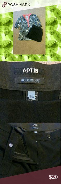Apt 9 Black Dress Slacks Apt 9 Black dress slacks extremely comfortable. Size 20W Apt. 9 Pants