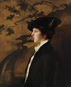 Mary with a Black Hat, Edmund Tarbell